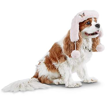 Bond & Co. Pink Faux-Fur Forever Dog Trapper Hat