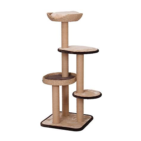 PetPals Group Treehouse Natural Four Level Cat Tree With Perches