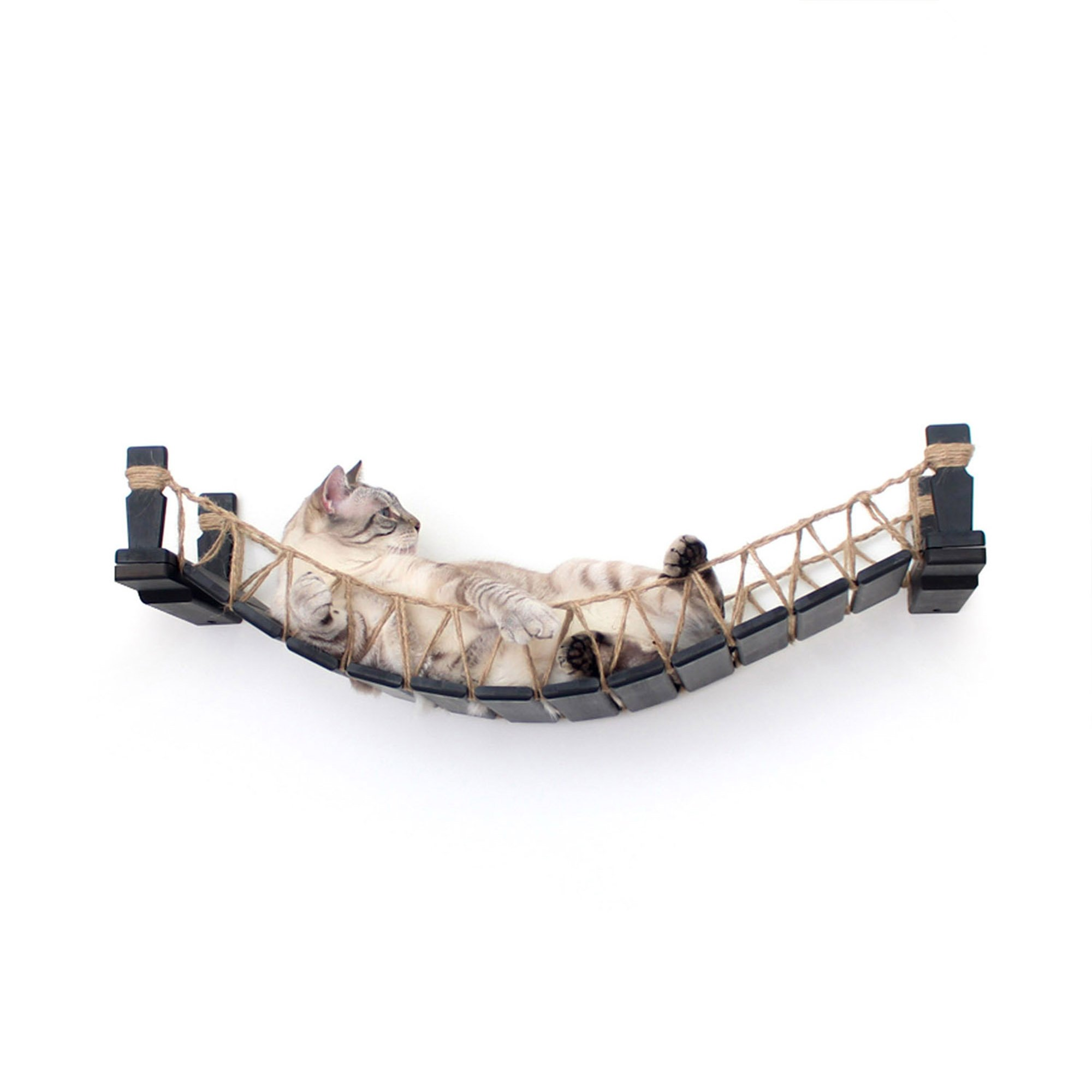 Catastrophicreations The Cat Mod Bridge Lounge Hammocks For Cats In English Chestnut, 64 In W X 6 In H, 18 Lb