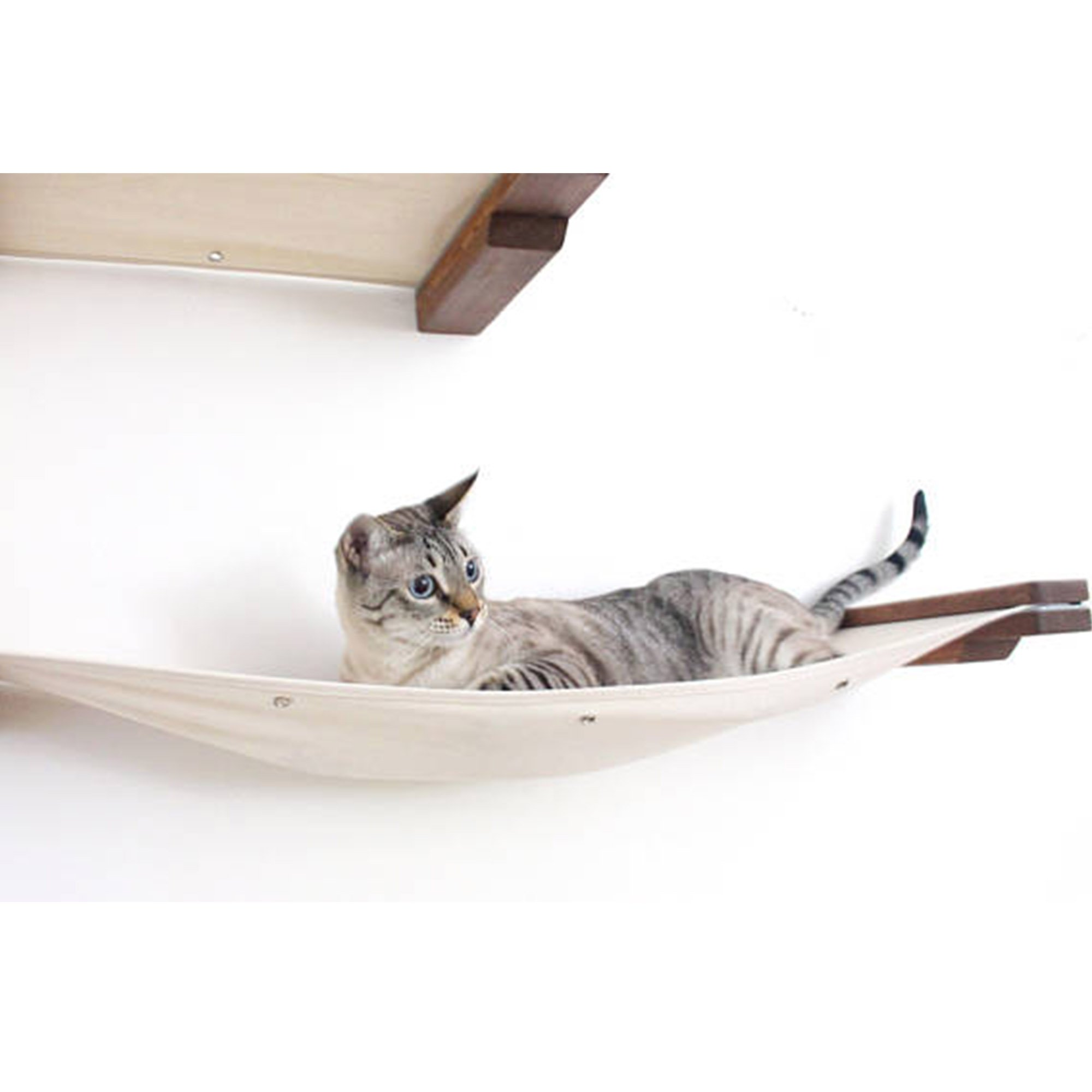 Catastrophicreations The Cat Mod Double Decker Hammocks For Cats In English Chestnut, 35.5 In W X 15.5 In H, 8 Lb