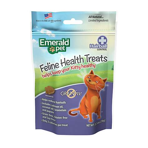 Emerald Pet Feline Hairball Control Treat For Cats