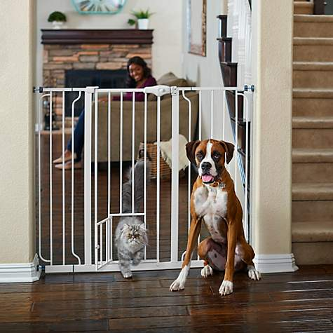You & Me Extra-Tall Walk-Thru Pet Gate