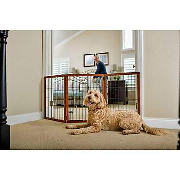 You & Me Freestanding Wooden Pet Gate
