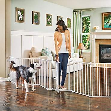 You & Me Convertible Walk-Thru Pet Gate and Play Yard