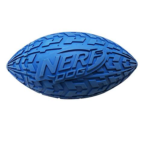 Nerf Tire Squeak Football for Dogs