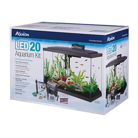 Aqueon Led Aquarium Kit 20h Black Petco