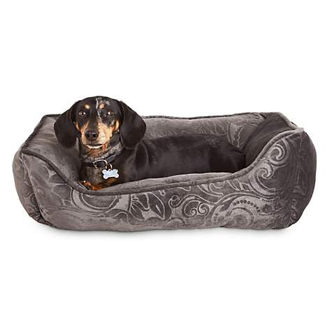 Harmony Urban Luxe Floral Gray Nester Dog Beds