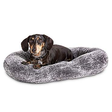Harmony Urban Luxe Gray Faux Fur Nester Dog Beds