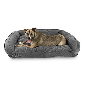 Harmony Urban Luxe Gray Memory Foam Sleeper Dog Beds