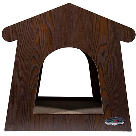 Catopia Ash Series House Dark Brown Scratcher for Cat
