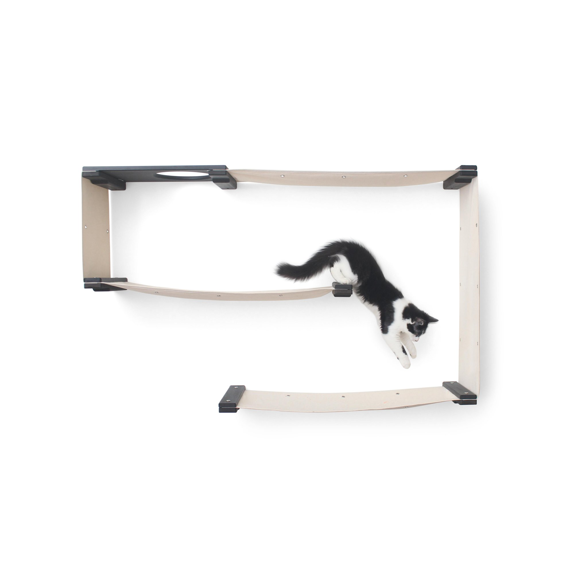 Catastrophicreations The Cat Mod Maze Lounging Hammocks For Cats In Onyx, 52 In W X 31 In H, 16 Lb