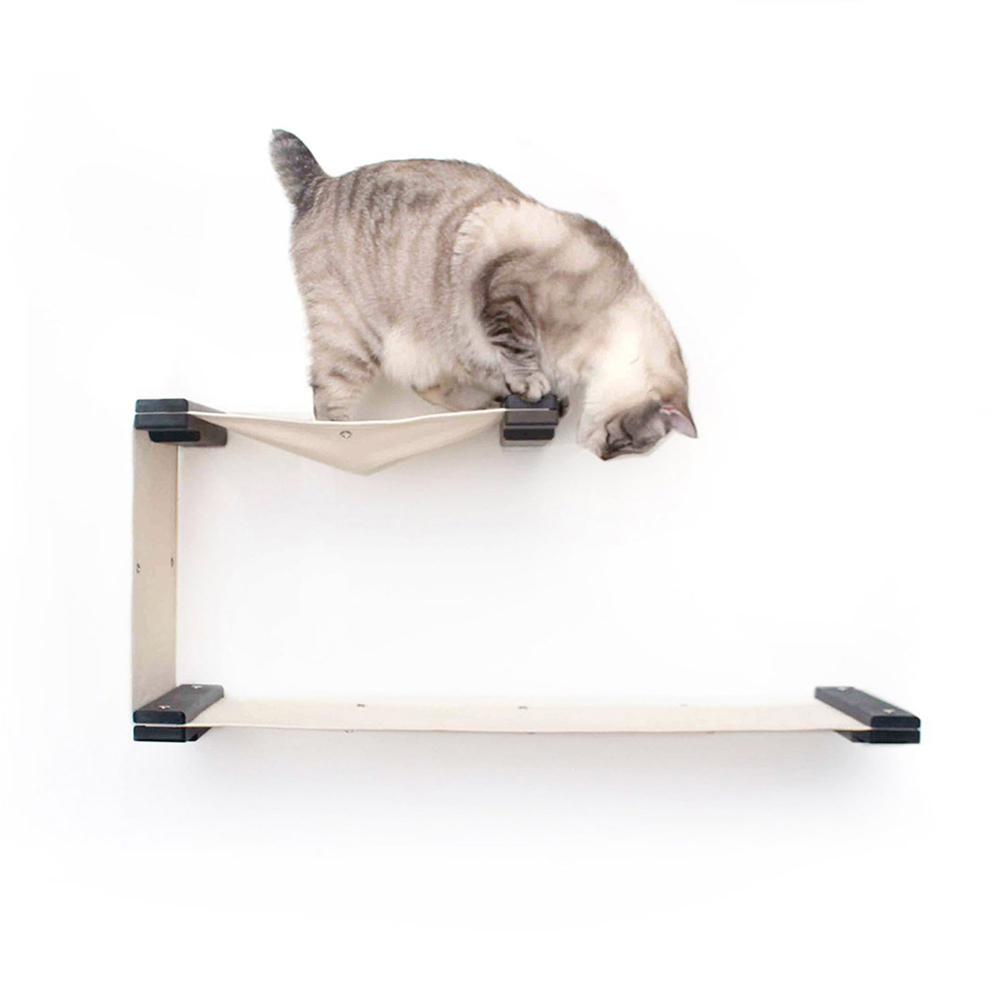 Catastrophicreations The Cat Mod Double Decker Hammocks For Cats In Onyx, 35.5 In W X 15.5 In H, 8 Lb