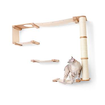 CatastrophiCreations The Cat Mod Climb Track Hammocks With Sisal Pole for Cats in Natural