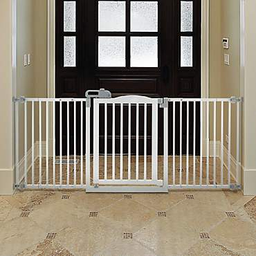 Richell One-Touch White Pet Gate II Wide