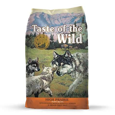 Taste of the Wild High Prairie Grain-Free Roasted Bison & Venison Dry Puppy  Food, 28 lbs