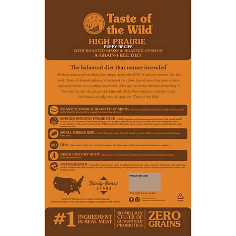 Taste Of The Wild High Prairie Grain Free Roasted Bison Venison Dry Puppy Food Petco