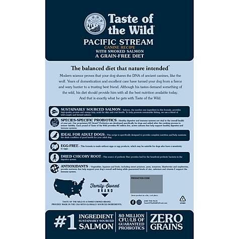 Taste Of The Wild Dog Food Reviews >> Taste Of The Wild Pacific Stream Grain Free Smoked Salmon Dry Dog Food 28 Lbs