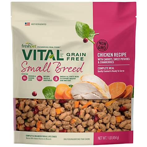 Freshpet Vital Grain Free Small Breed Complete Meals Wet Dog Food