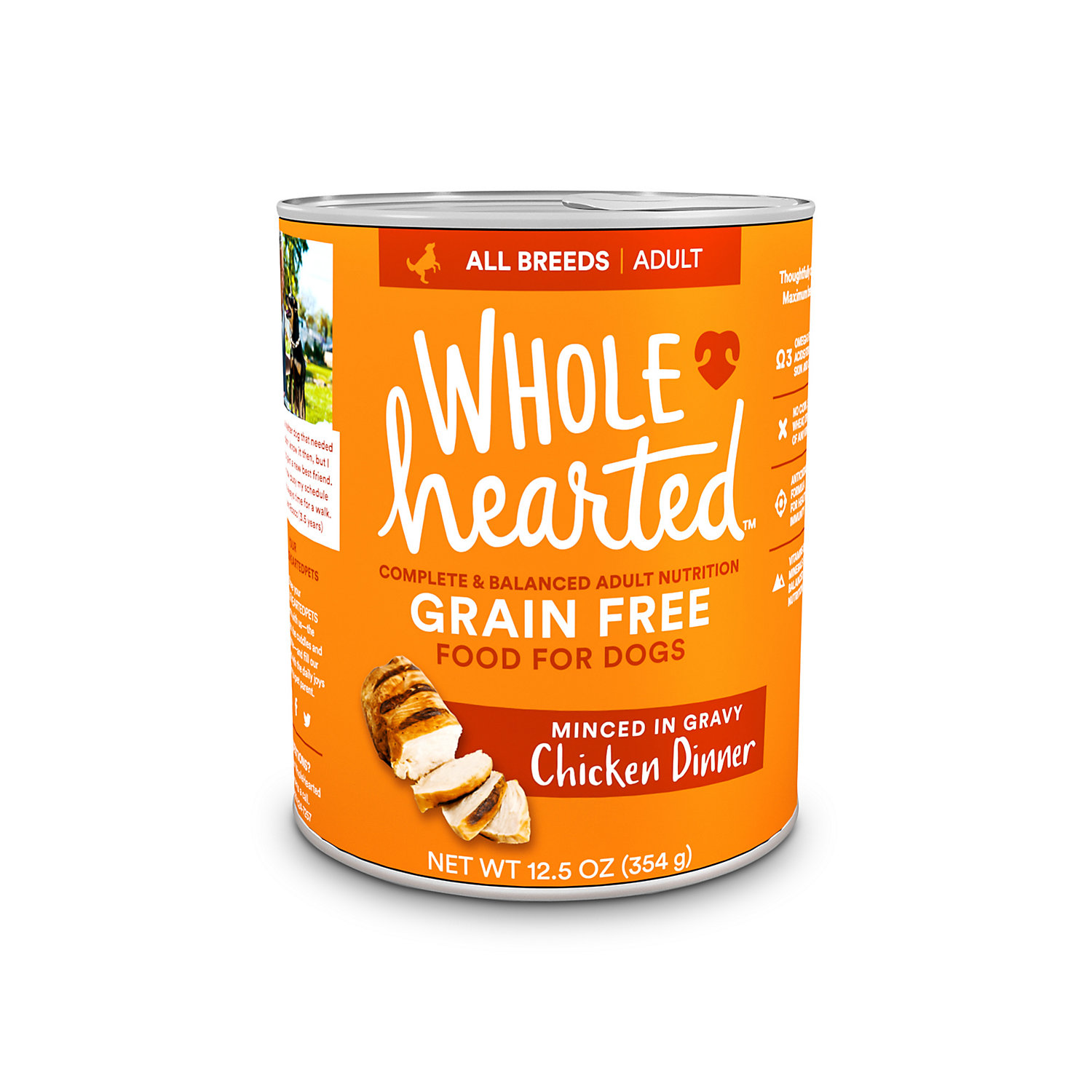 WholeHearted Grain-Free Adult Chicken Dinner Wet Dog Food - $17.52