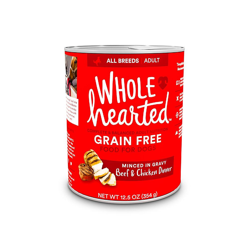 WholeHearted Grain-Free Adult Beef and Chicken Dinner Wet Dog Food, 12.5 oz., Case of 8
