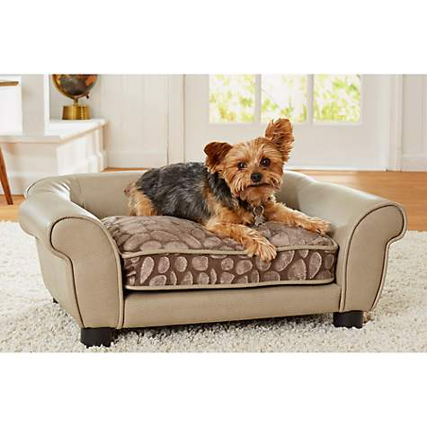 Enchanted Home Pet Rocco Sofa Stone Pewter for Dog