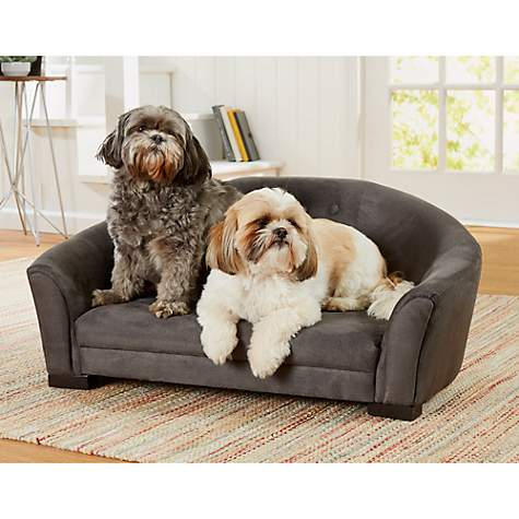 Enchanted Home Pet Artemis Sofa with Grey Buttons for Dog