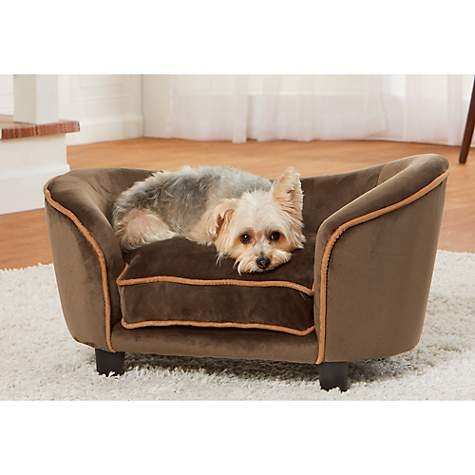 Enchanted Home Pet Ultra Plush Snuggle Mink Brown Sofa for Dog
