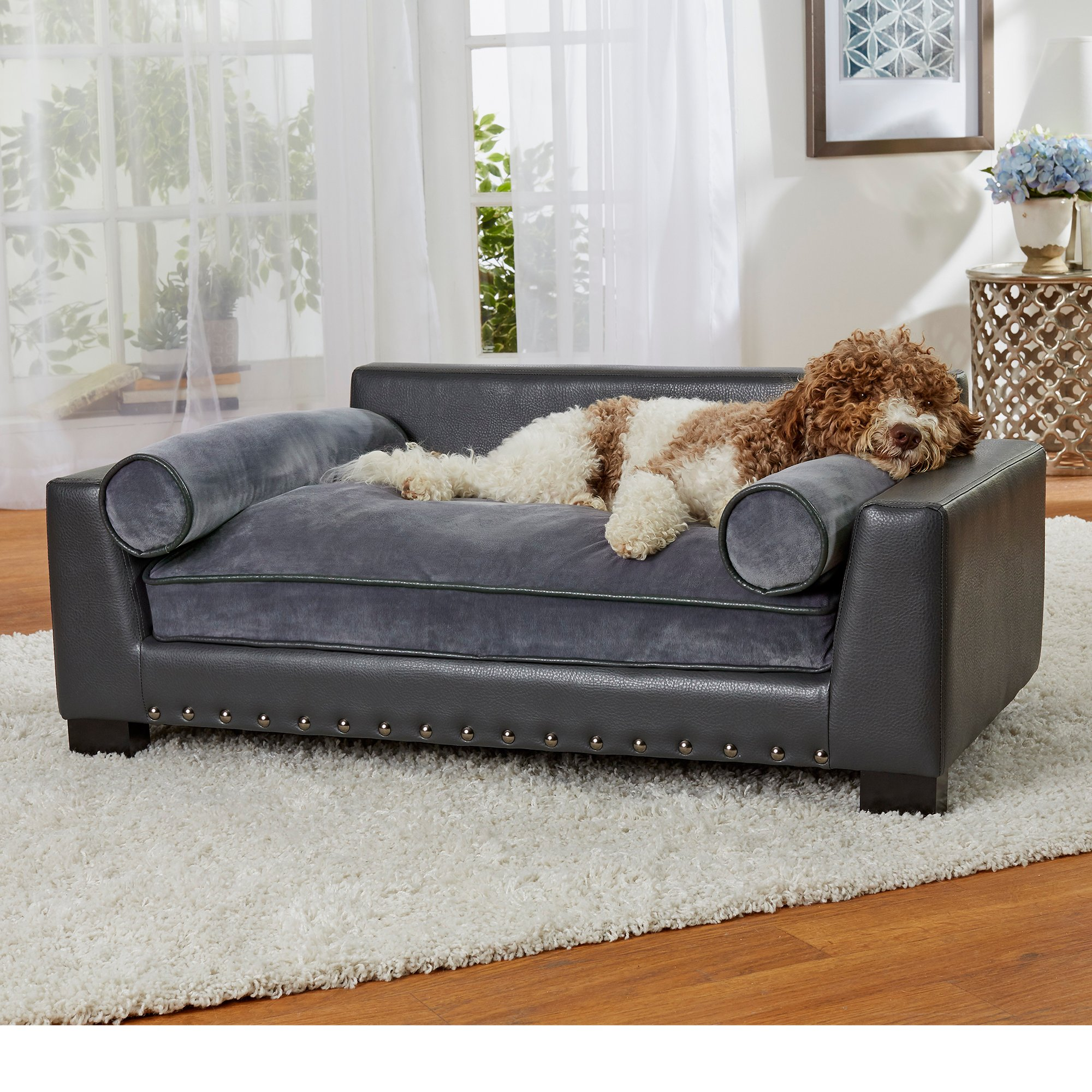 Enchanted Home Pet Skylar Dark Grey Sofa for Dog | Petco
