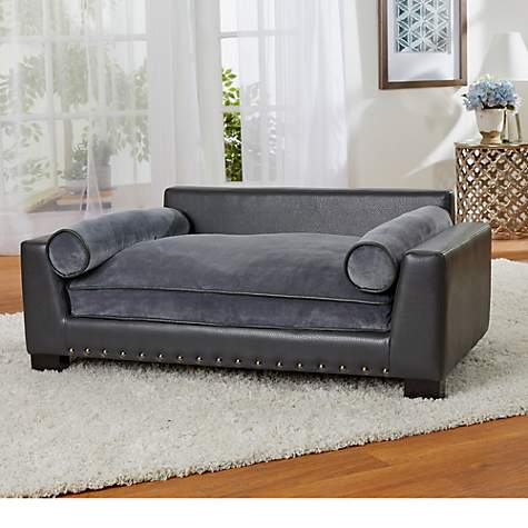 Admirable Enchanted Home Pet Skylar Dark Grey Sofa For Dog 42 L X 26 W Gmtry Best Dining Table And Chair Ideas Images Gmtryco