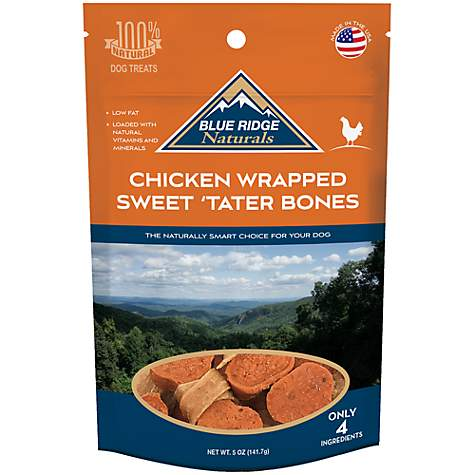 Blue Ridge Naturals Chicken Wrapped Sweet Tater Bone Dog Treats