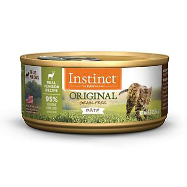 Instinct Original Grain Free Real Venison Recipe Natural Wet Canned Cat Food by Nature's Variety