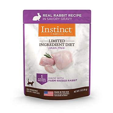 Instinct Nature's Variety Limited Ingredient Diet Grain Free Real Rabbit Recipe Natural Wet Cat Food