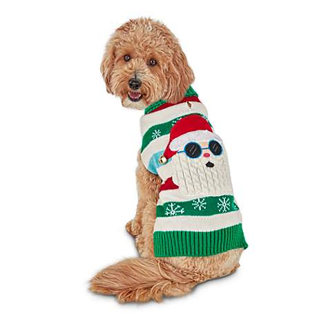 holiday tails cool claus ugly christmas dog sweater petco - Ugly Christmas Dog Sweater