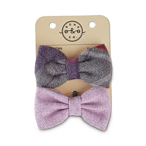 ca8c486cb01a Bond & Co. Tartan Felt and Lavender Tweed Bowtie Dog Set | Petco