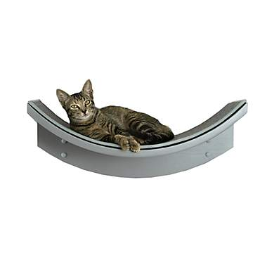 The Refined Feline Lotus Leaf Cat Shelf in Smoke