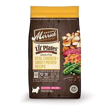 Merrick Lil' Plates Grain Free Real Chicken + Sweet Potato Small Breed Dry Dog Food