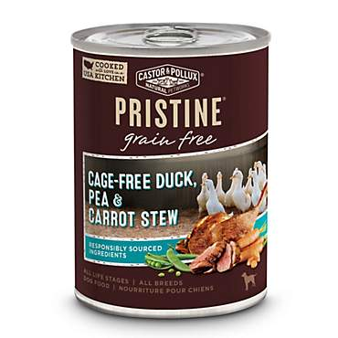 Castor & Pollux Pristine Grain Free Cage-Free Duck, Pea & Carrot Stew Wet Dog Food