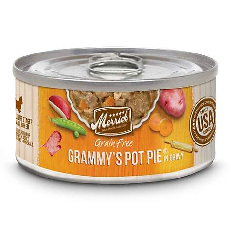 Merrick Grain Free Grammy's Pot Pie Recipe Small Breed Wet Dog Food