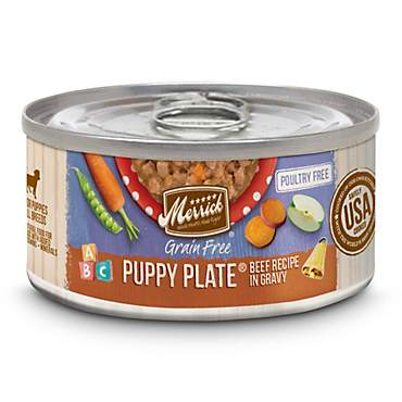 Merrick Grain Free Puppy Plate Beef Recipe Wet Puppy Food