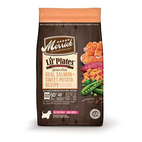 Merrick Lil' Plates Grain Free Real Salmon + Sweet Potato Small Breed Dry Dog Food