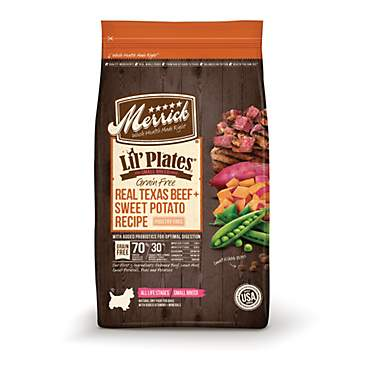 Merrick Lil' Plates Grain Free Real Texas Beef + Sweet Potato Small Breed Dry Dog Food