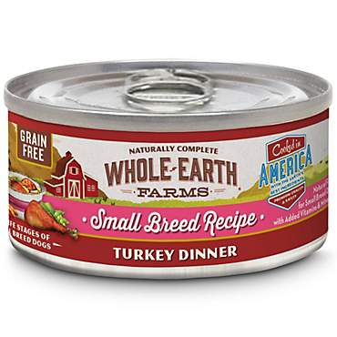 Whole Earth Farms Grain Free Small Breed Turkey Dinner Wet Dog Food