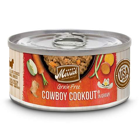 Merrick Grain Free Cowboy Cookout Recipe Small Breed Wet Dog Food