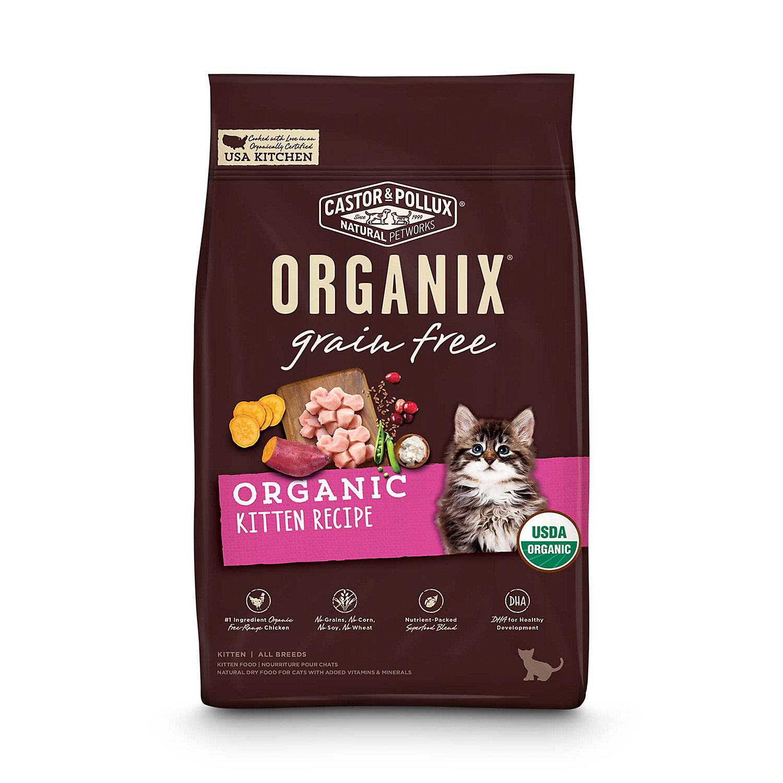 Image of Castor & Pollux Grain Free Organic Kitten Recipe Cat Dry Food