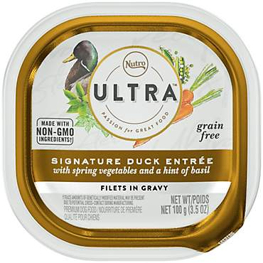 Nutro Ultra Grain Free Filets in Gravy Signature Duck Entree with Spring Vegetables Wet Dog Food