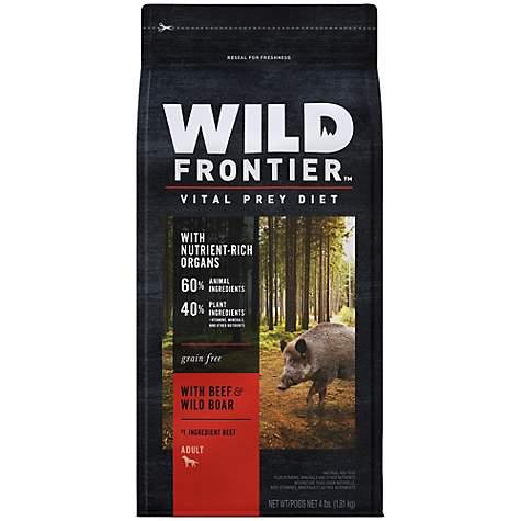 Wild Frontier Vital Prey with Beef & Wild Boar Adult Dry Dog Food, 4 lbs