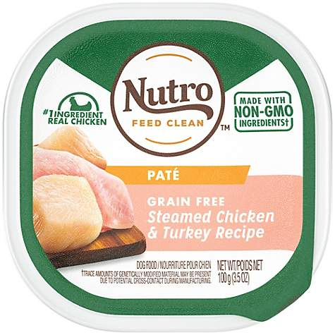 Nutro Pate Grain Free Steamed Chicken & Turkey Recipe Wet Dog Food