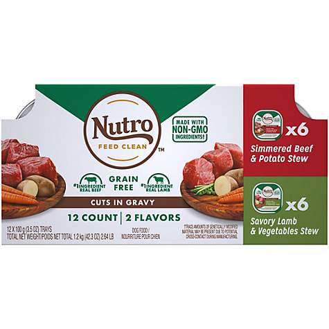 Nutro Petite Eats Signature Beef & Potato and Savory Lamb Adult Wet Dog Food Variety Pack