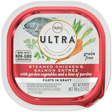 Nutro Ultra Grain Free Filets in Gravy Salmon Entree with Vegetables & a Hint of Parsley Wet Dog Food