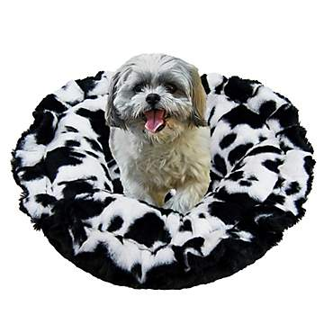 Bessie & Barnie Ultra Plush Deluxe Spotted Pony Black Puma Pet Lily Pod Cat Bed